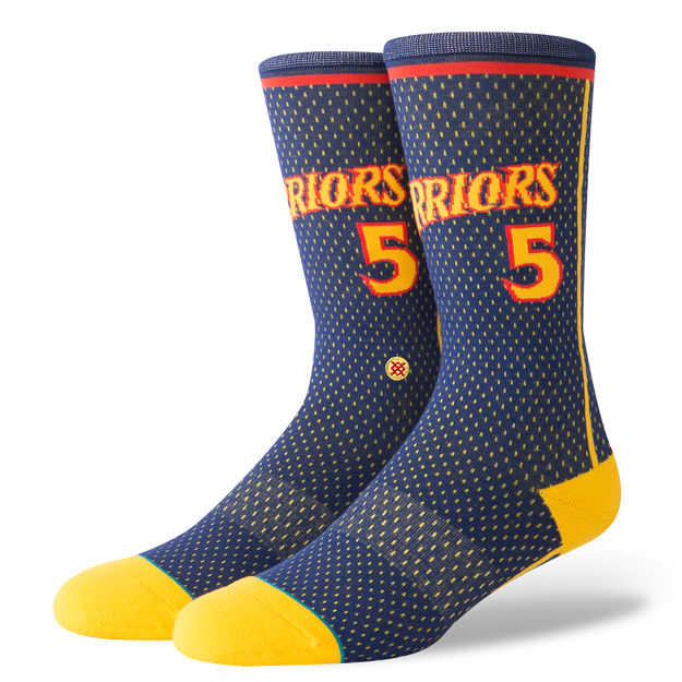Golden State Warriors 02 HWC Stance Socks Navy Hardwood Classic