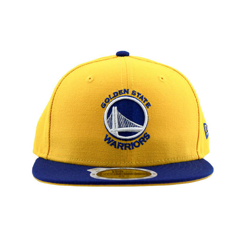 Golden State Warriors New Era Yellow Blue Youth 59Fifty Cap