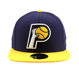 Indiana Pacers New Era NBA Navy Yellow Snapback Cap