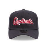 Kansas City Cardinals Script New Era Navy 9Fifty Stretch-Snap Cap