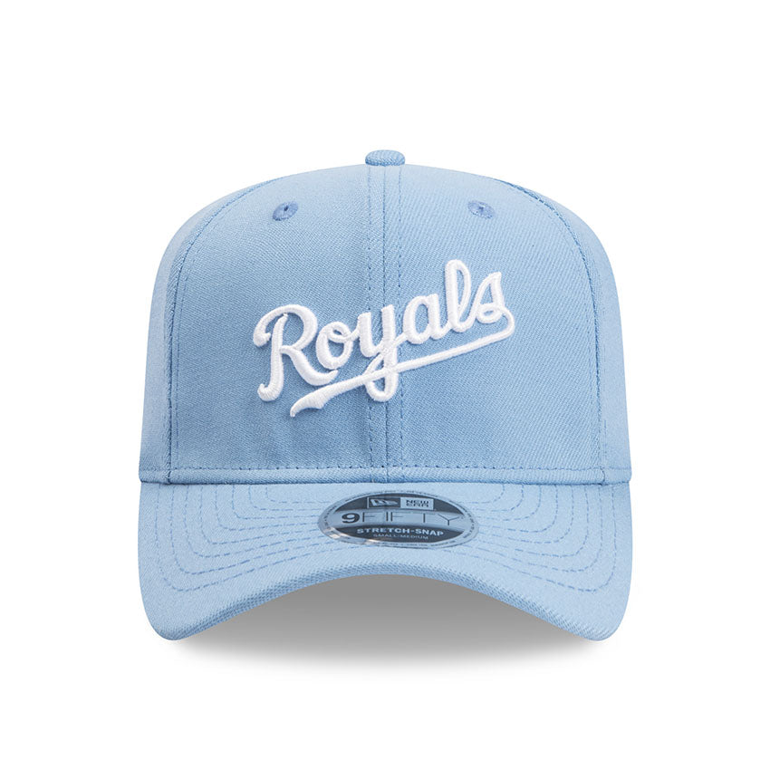 Kansas City Royals Script New Era Light Blue 9Fifty Stretch-Snap Cap