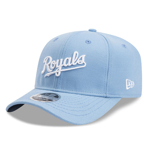 Kansas City Royals Script New Era Blue 9Fifty Stretch-Snap Cap