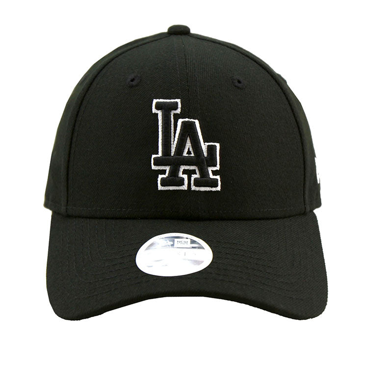 Los Angeles Dodgers Black 9forty Adjustable Cap Women