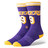 Los Angeles Lakers 94 HWC Stance Socks Purple Hardwood Classic