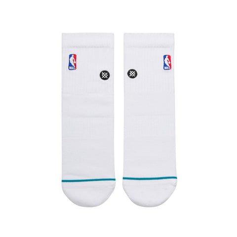 NBA Logoman Quarter Sock Stance Socks White
