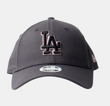Los Angeles Dodgers Dark Grey Graphite Pink Black 9Forty Adjustable Cap Women's