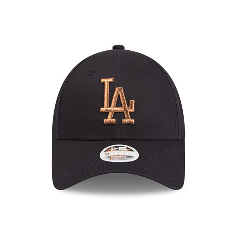 Los Angeles Dodgers Grey Jersey Rose Gold Women's 9forty Adjustable Cap New Era