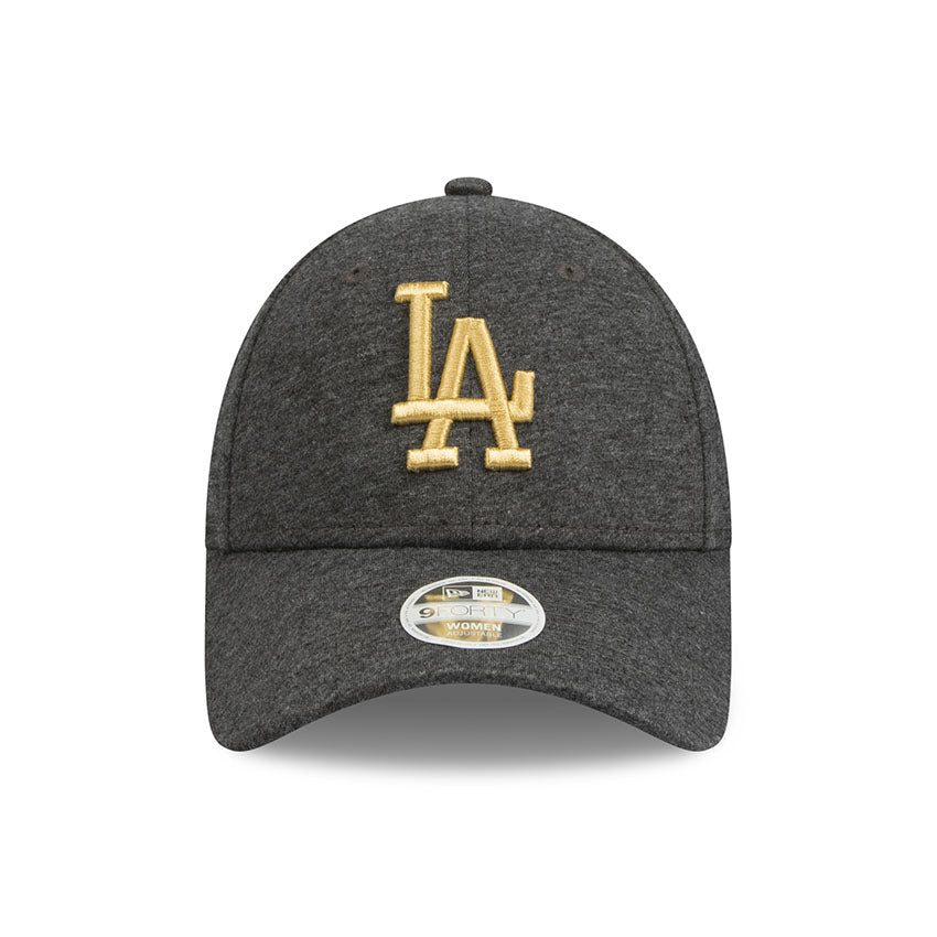 ee8757c567e Los Angeles Dodgers Grey Jersey Speck Metallic Gold Women s 9forty  Adjustable Cap New Era