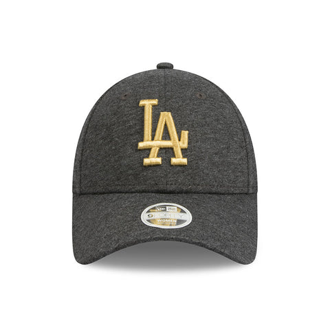 Los Angeles Dodgers Grey Jersey Speck Metallic Gold Women's 9forty Adjustable Cap New Era