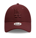 Los Angeles Dodgers Maroon Women's 9forty Adjustable Cap New Era front
