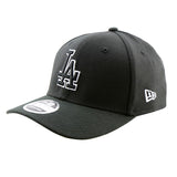 Los Angeles Dodgers New Era Black 9Fifty Stretch-Snap Cap