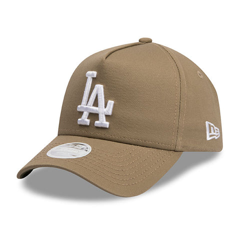 Los Angeles Dodgers New Era Khaki Beige 9forty Adjustable Cap Women's