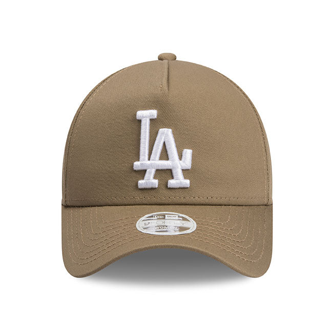 Los Angeles Dodgers New Era Khaki Beige 9forty Adjustable Cap Women