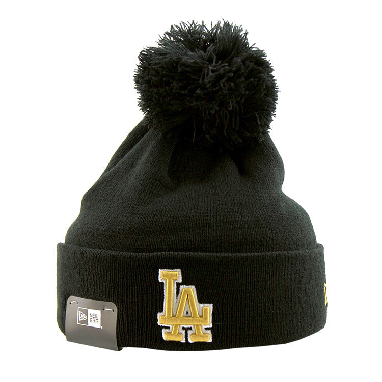 77969c086 Los Angeles Dodgers Pom Knit New Era Beanie