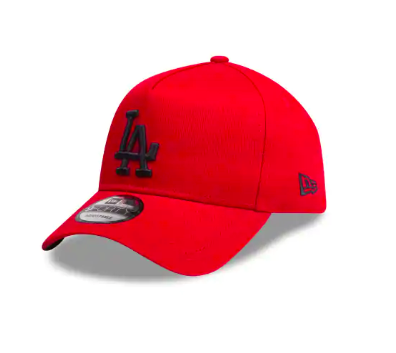Los Angeles Dodgers Scarlet Black 9forty Adjustable New Era Cap