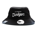 Los Angeles Dodgers Script Black NEW ERA Bucket Hat front