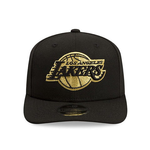 Chicago Bulls New Era NBA Black Metallic Gold Snapback Cap