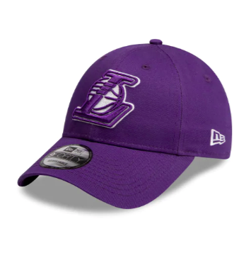 Los Angeles Lakers Team Pop Purple New Era 9forty Adjustable Strapback Pre Curved Cap