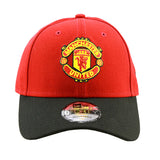 Manchester United New Era Adjustable Red Black Pre Curved Cap
