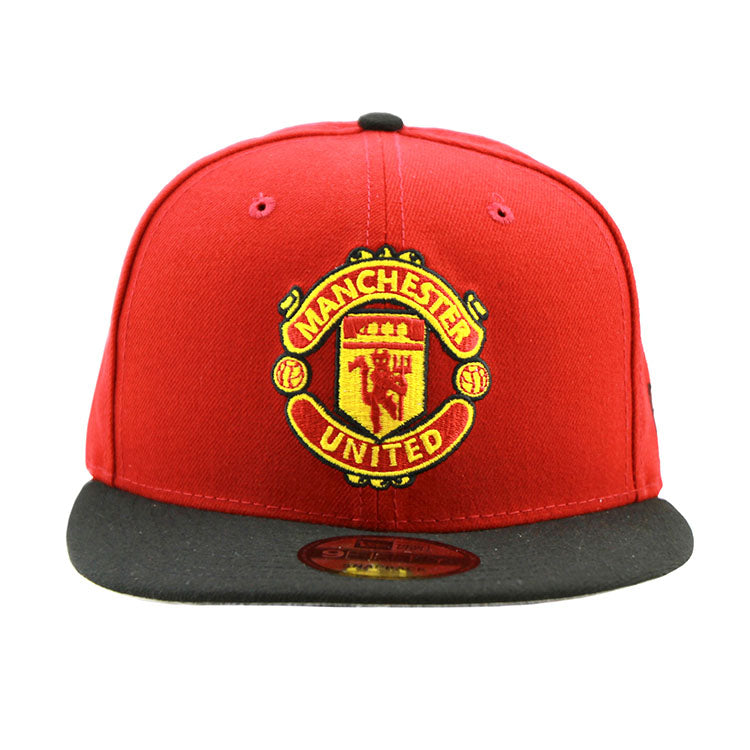 Manchester United New Era Snapback Red Black Cap