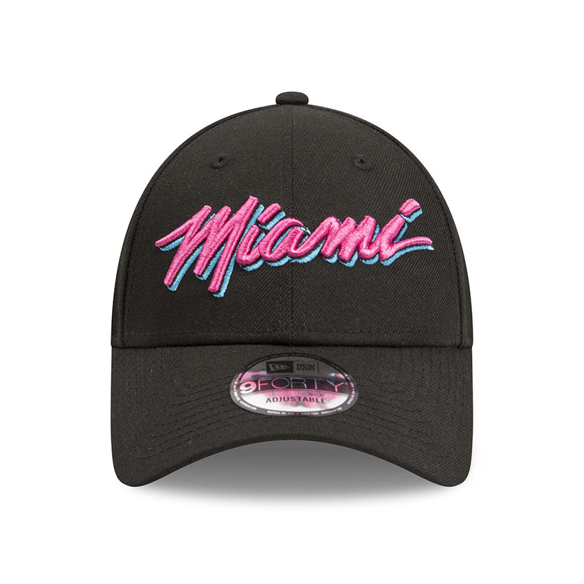 fa771b6b1ba2a Miami Heat Vice 9forty Adjustable Snapback New Era Black Cap – Lidzcaps