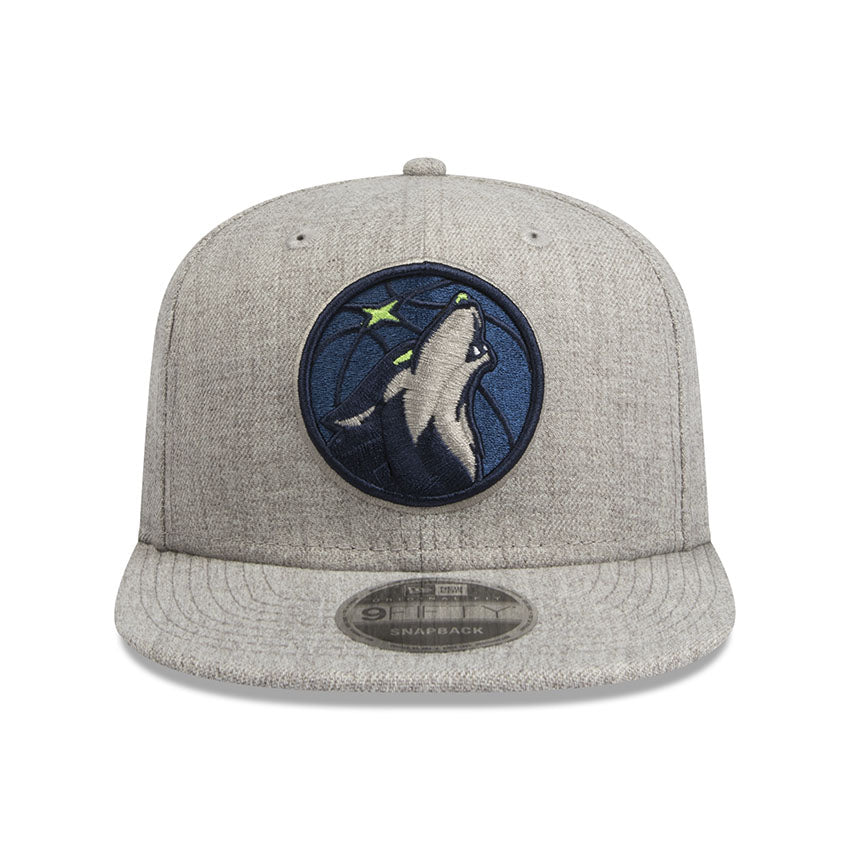 Minnesota Timberwolves Heather Grey 9Fifty Snapback Cap