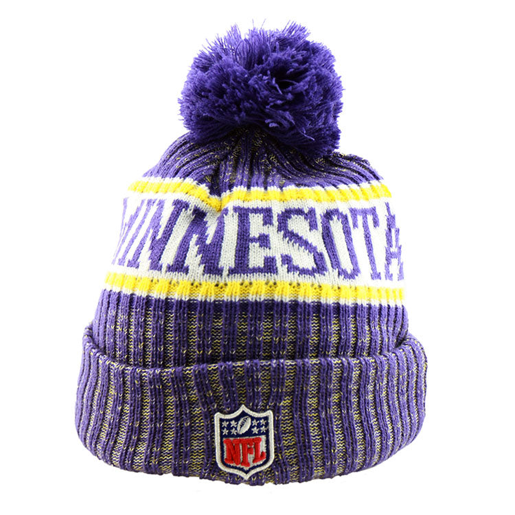 Minnesota Vikings New Era NFL On Field Knit Cuffed Beanie