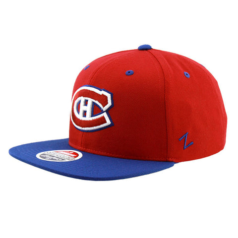 Montreal Canadiens Zephyr Snapback Cap Red Blue