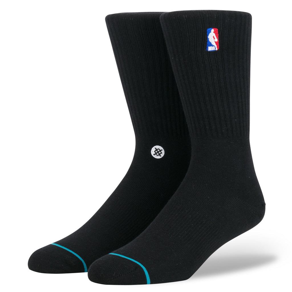 NBA Logoman Crew Stance Socks Black