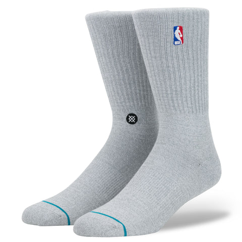 NBA Logoman Crew Stance Socks Heather Grey