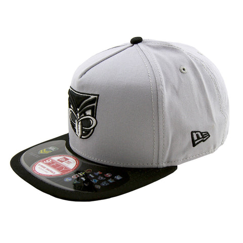 Auckland Warriors Grey Black Brim A Frame Snapback New Era Cap