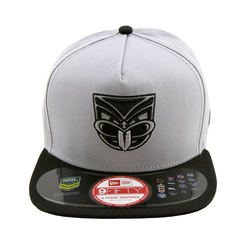 Auckland Warriors Grey Black Brim A Frame Snapback Cap