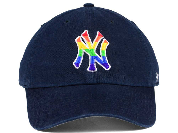 info for 24a1e 68d9c New York Yankees Pride  47 Brand Navy Clean up Strapback Adjustable Cap ...