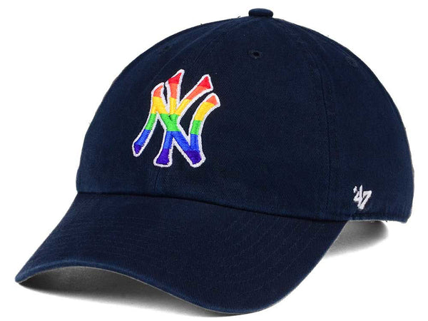 4c862768e69db ... New York Yankees Pride  47 Brand Navy Clean up Strapback Adjustable ...