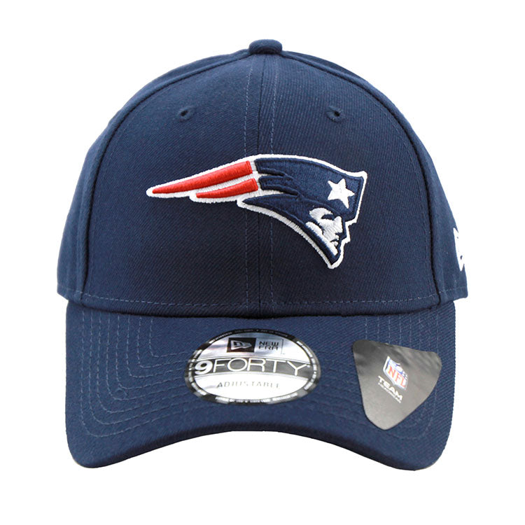 New England Patriots Navy 9forty Adjustable Strapback Cap