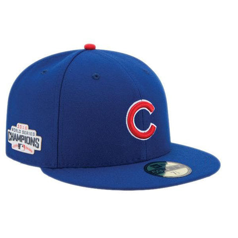 Chicago Cubs New Era Side Patch 2016 Champions Blue Fitted Cap
