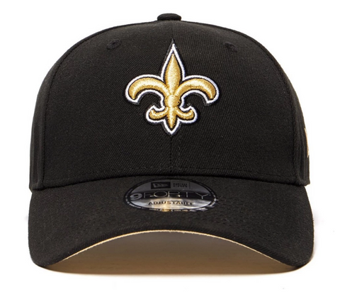 New Orleans Saints 9forty Adjustable Snapback New Era Black Cap