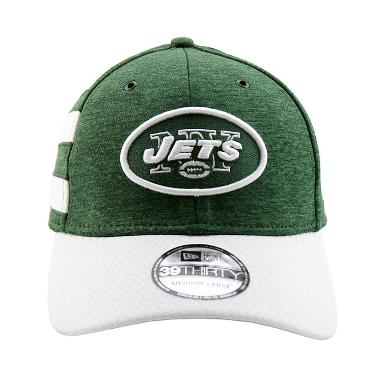 New York Jets New Era 2018 Sideline Collection Onfield Fitted 3930 Pre Curved Cap