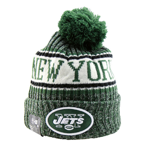 New York Jets New Era NFL On Field Knit Cuffed Beanie