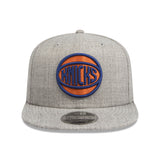 New York Knicks Heather Grey 9Fifty Snapback Cap lidz caps australia side