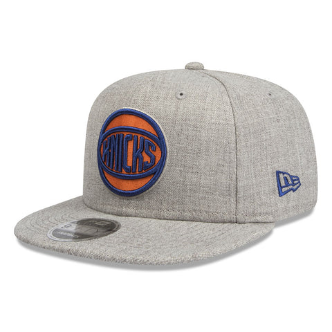 New York Knicks Heather Grey 9Fifty Snapback Cap