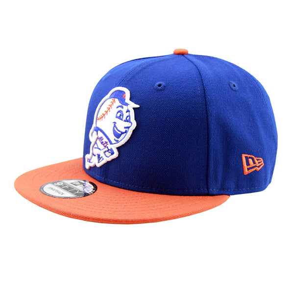 854fbc47323 New York Mets Mr Met Alt Logo New Era Blue Orange Snapback 9fifty Cap –  Lidzcaps