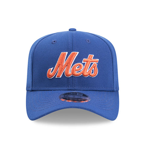 New York Mets Script New Era Blue 9Fifty Stretch-Snap Cap