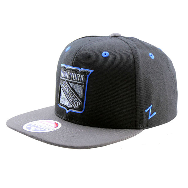 new arrival 781ee eb0d1 ... clearance new york rangers zephyr snapback black grey cap 15fa7 6414b