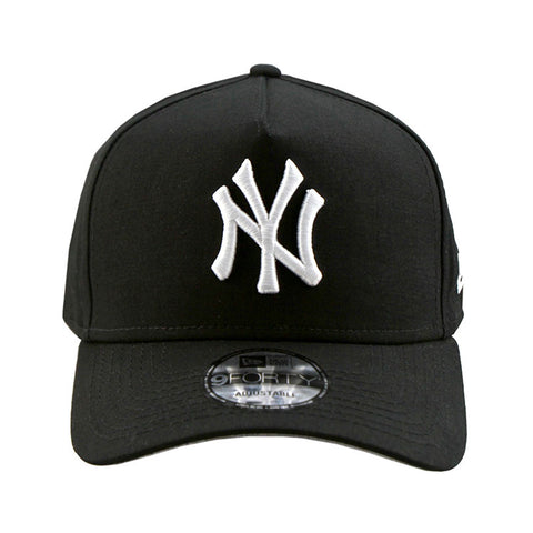 New York Yankees A-Frame Black 9forty Adjustable Cap