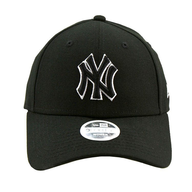 New York Yankees Black 9forty Adjustable Cap Women