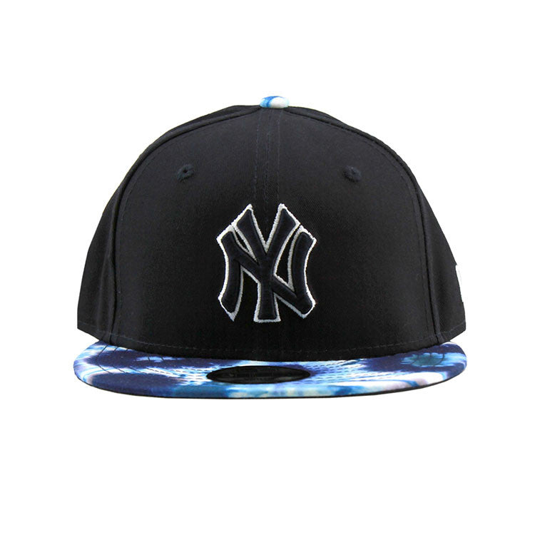 New York Yankees Black Navy Tie Dye Snapback Cap New Era
