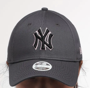New York Yankees Dark Grey Graphite Pink Black 9Forty Adjustable Cap Women
