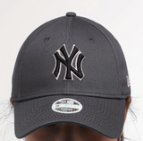New York Yankees Dark Grey Graphite Pink Black 9Forty Adjustable Cap Women's