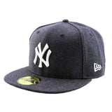 New York Yankees Heather Navy Fitted New Era Cap